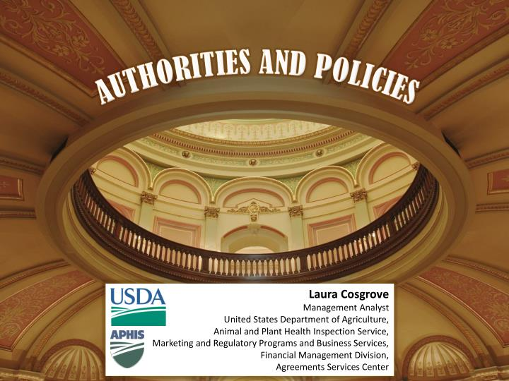 AUTHORITIES AND POLICIES