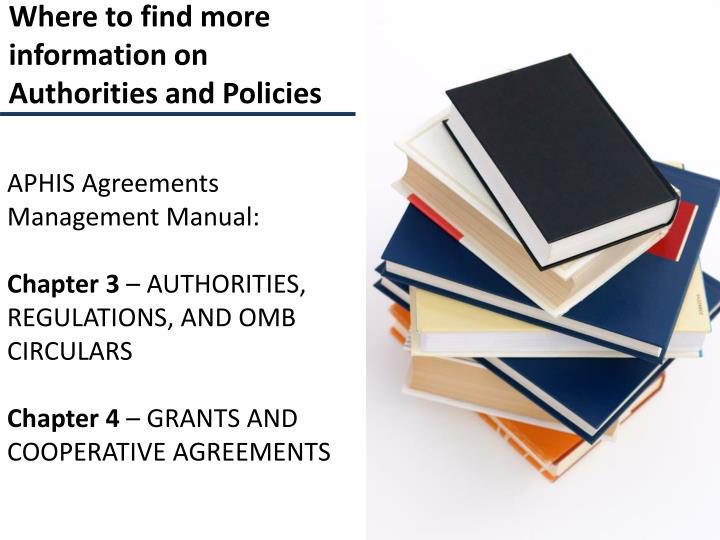 APHIS Agreements Management Manual: