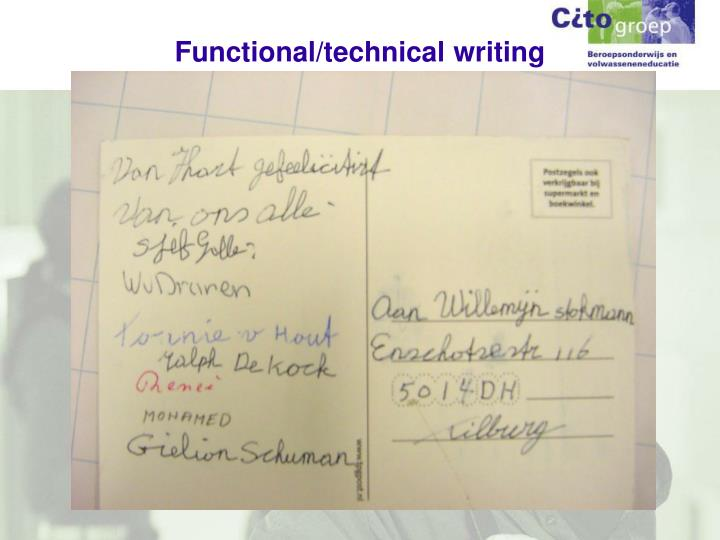 Functional/technical writing