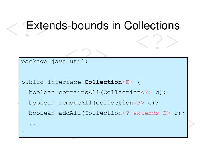 Extends-bounds in Collections