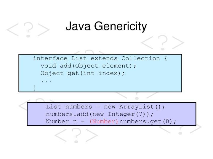 Java Genericity