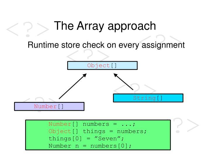 The Array approach