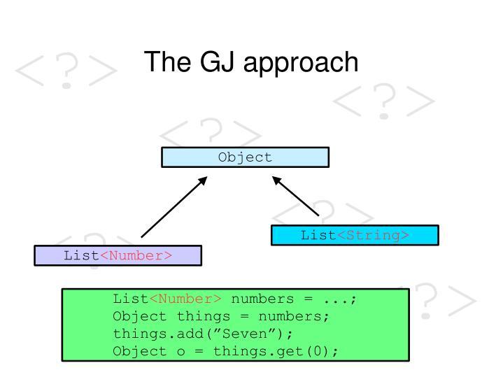 The GJ approach