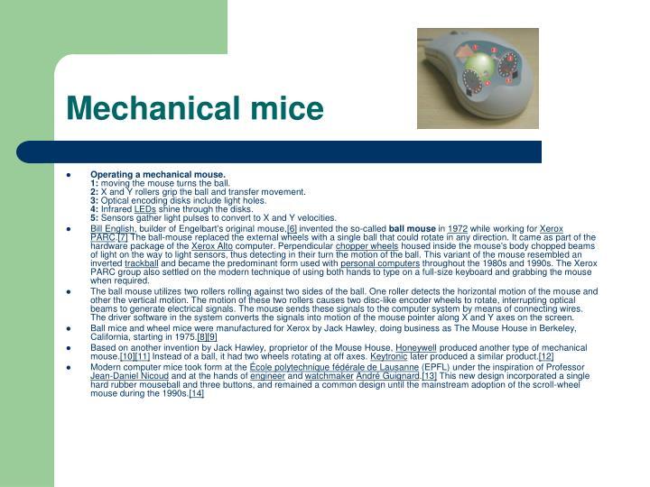 Mechanical mice