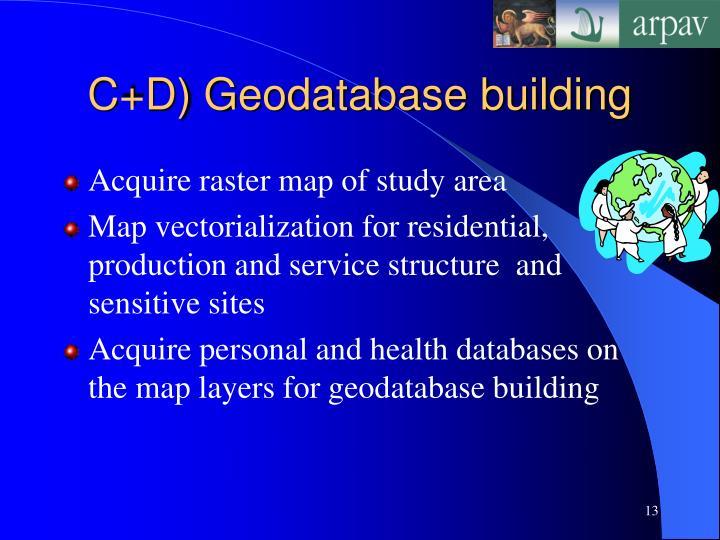 C+D) Geodatabase building