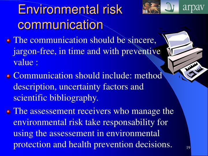 Environmental risk communication