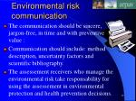 environmental risk communication