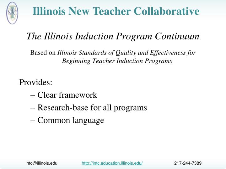 The Illinois Induction Program Continuum