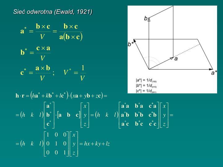 Sieć odwrotna (Ewald, 1921)