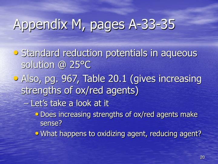Appendix M, pages A-33-35