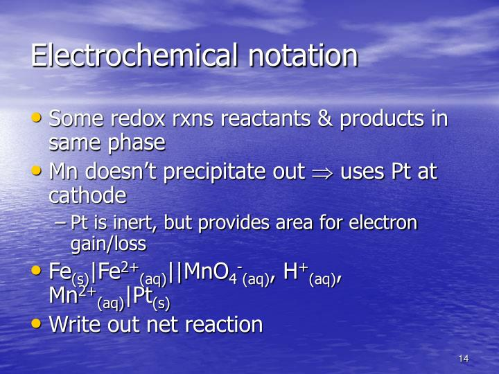 Electrochemical notation