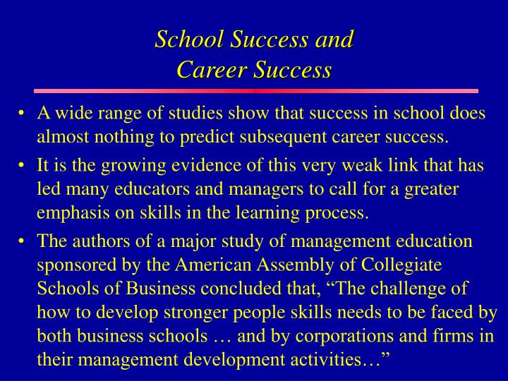 School Success and