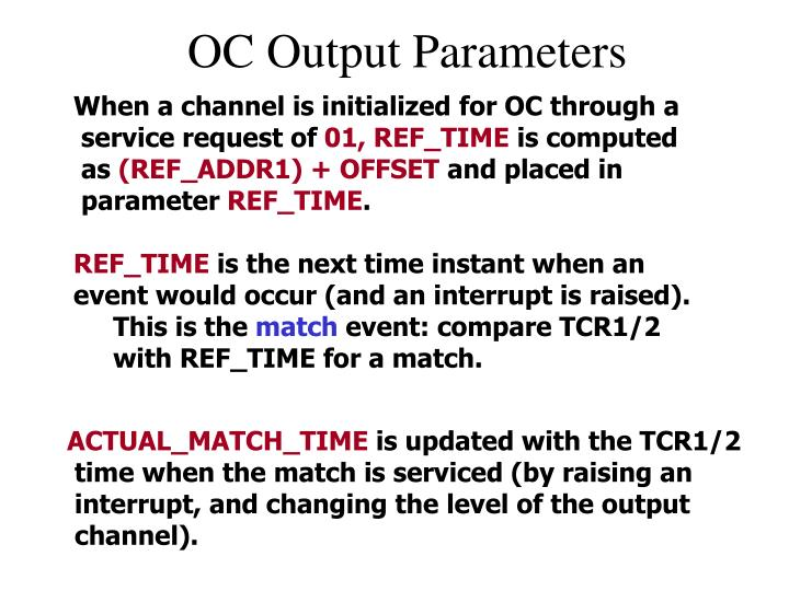 OC Output Parameters