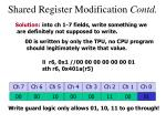 shared register modification contd1