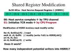 shared register modification