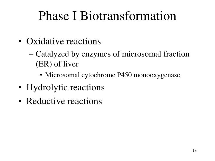 Phase I Biotransformation