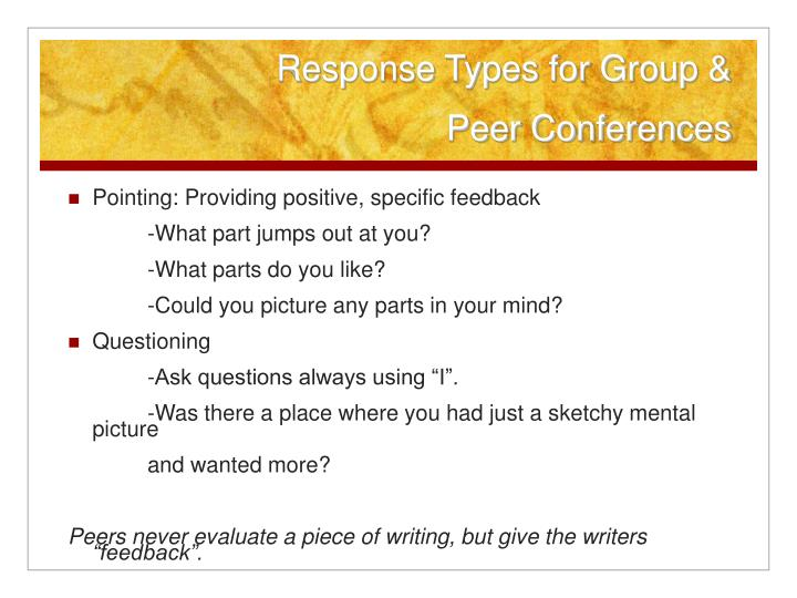 Response Types for Group &