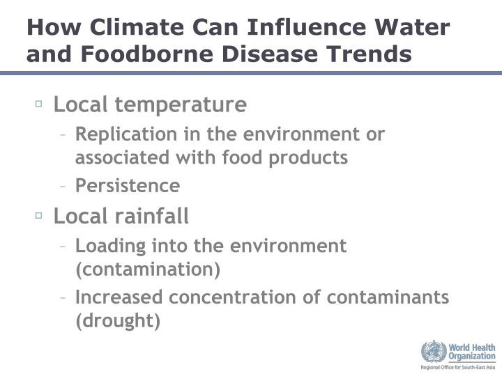 How Climate Can Influence Water and Foodborne Disease Trends