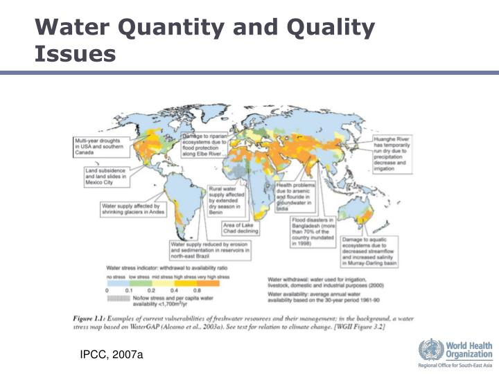 Water quantity and quality issues