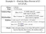 example 4 find the mass percent of cl in c 2 cl 4 f 2