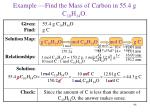 example find the mass of carbon in 55 4 g c 10 h 14 o