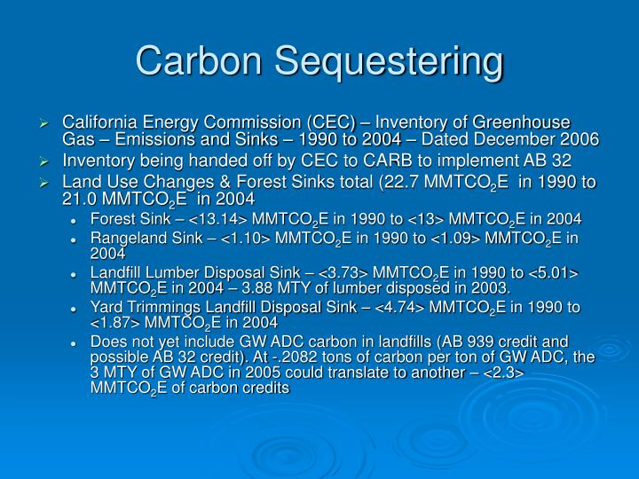 Carbon Sequestering