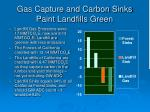 gas capture and carbon sinks paint landfills green