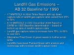 landfill gas emissions ab 32 baseline for 1990