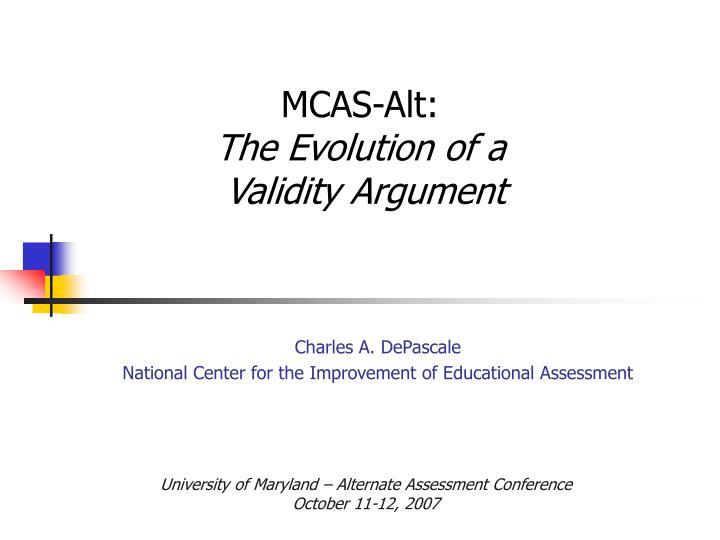 MCAS-Alt: