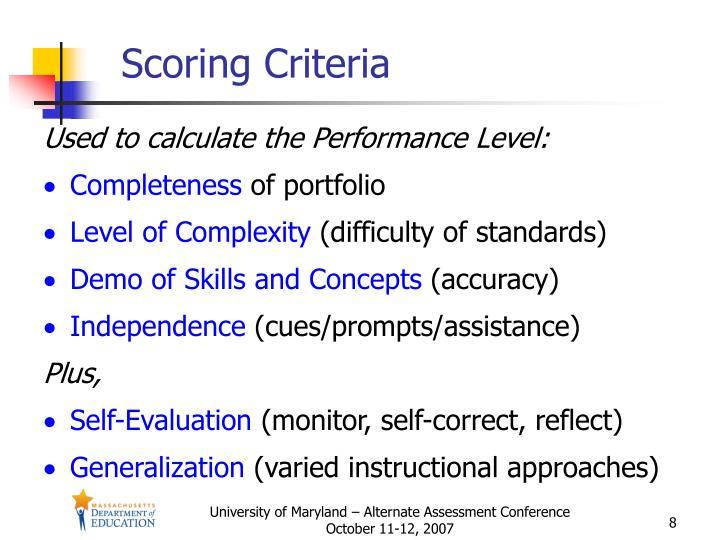 Scoring Criteria