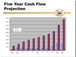 five year cash flow projection