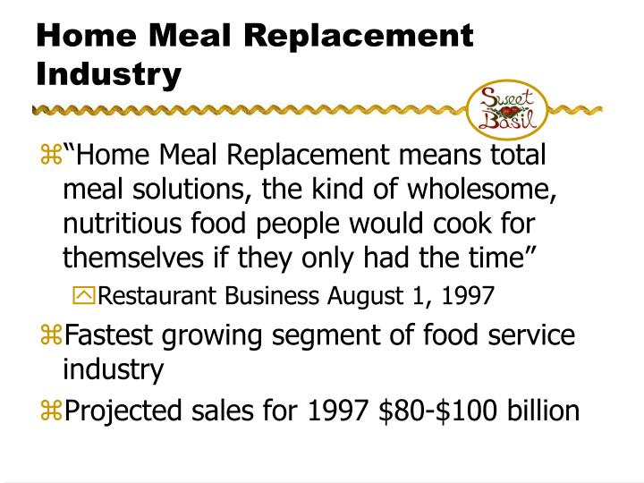 Home Meal Replacement Industry