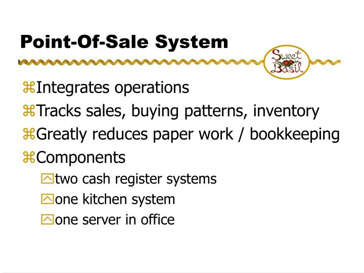 Point-Of-Sale System