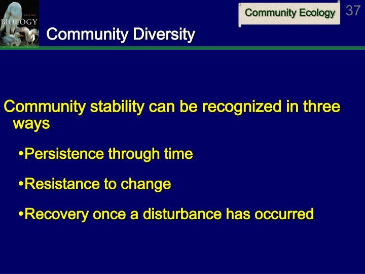Community Diversity