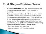 first steps division team1