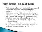 first steps school team1