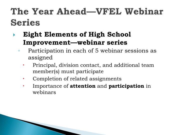 The Year Ahead—VFEL Webinar Series