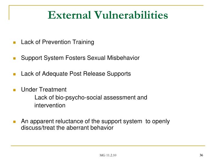 External Vulnerabilities