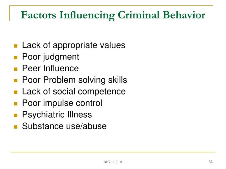 Factors Influencing Criminal Behavior