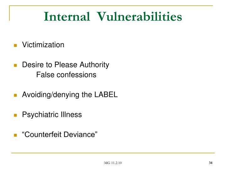 Internal  Vulnerabilities