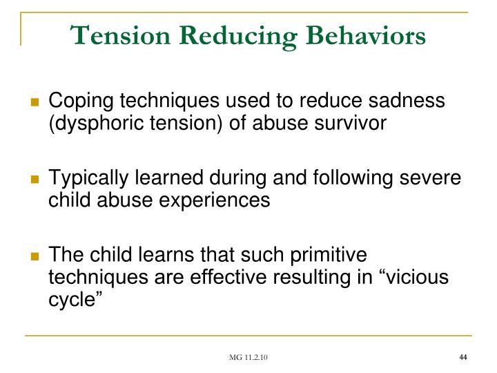 Tension Reducing Behaviors