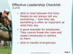 effective leadership checklist 2 of 5