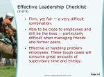 effective leadership checklist 3 of 5