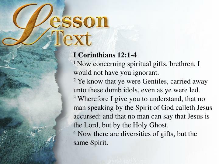 I Corinthians 12:1-4