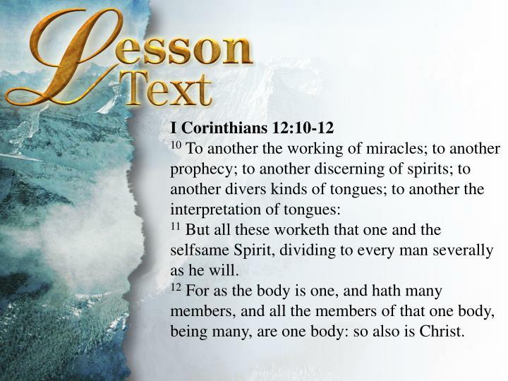 I Corinthians 12:10-12