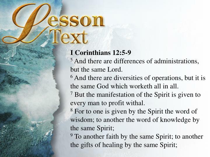 I Corinthians 12:5-9