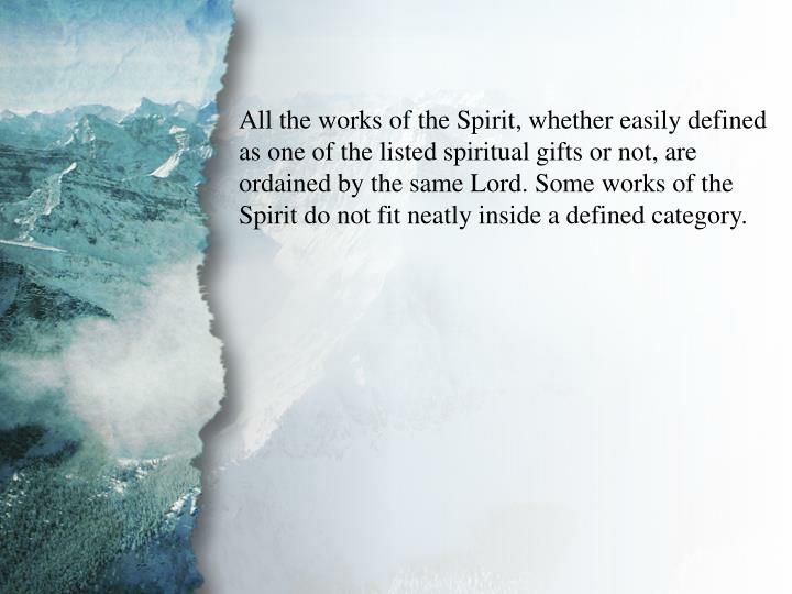 I. Understanding Spiritual Gifts (B)