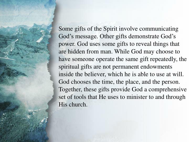 I. Understanding Spiritual Gifts (C)