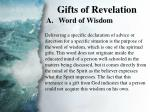 ii gifts of revelation a