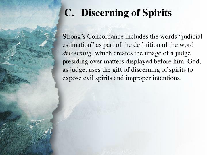 II. Gifts of Revelation (C)